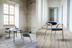design d'objet T. kjaer / pour un assortiment de chaises autour de la table du diner