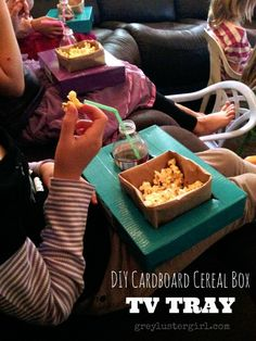 Cardboard Cereal Box TV Tray tutorial by grey luster girl