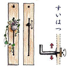 ~河長金物絵巻~ 『すいはつ』  茶室等に飾る自在掛けの板の溝に差し込み、好きな高さで短冊や花篭を掛けることができる金物。 角と丸があります。  ご購入はこちらから↓ https://chobey.shop-pro.jp/?pid=6233730  #金物 #茶室 #茶事 #すいはつ #自在掛け #金物のchobey #河長金物絵巻  illustration by @chiakiohtake