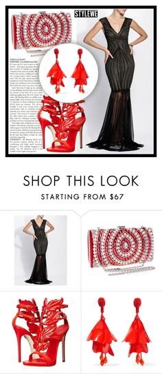 """StyleWe 10."" by amra-sarajlic ❤ liked on Polyvore featuring Giuseppe Zanotti and Oscar de la Renta"