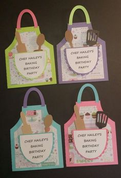 Baking Birthday Parties, Baking Party, Birthday Party Decorations, Kids Cooking Party, Kids Baking, Party Invitations Kids, Cupcake Party, Cupcake Decorating Party, Grandparents Day
