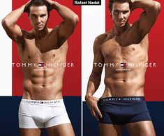 Hello, Rafael Nadal! The eighth-ranked tennis player in the world is making headlines off the court, all while stripping down to nothing more than his Tommy Hilfiger underwear for the designer's new fall campaign -- and you can check out the hot shoot right here.