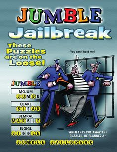 Jumble Jailbreak: These Puzzles Are On The Loose! Daily Jumble, Jumble Puzzle, Hobbies For Kids, Puzzle Books, Latest Games, Word Play, Puzzles, Challenges, Lettering