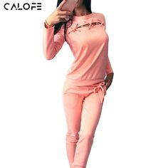 CALOFE Womens Sport Suits Bandage Hollow Sexy Running Sets Yoga Fitness Sportswear Two Piece Set Pink Pullover Joggers Pants Z25 ** AliExpress Affiliate's buyable pin. Clicking on the image will lead you to find similar product on www.aliexpress.com #Yogapants