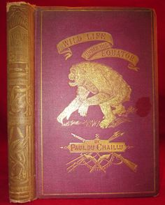 Wild Life Under the Equator ...Narrated for Young People by Paul Du Chaillu FINE BINDING 1869 Antique Illustrated Book