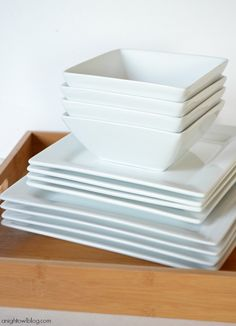 Love these simple, white dishes from BHG!