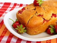 Aardbeien yoghurt cake