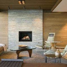 Flagstone Fireplace Design