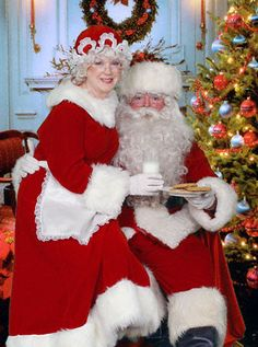 Santa & Mrs Claus - OK. . . Todd wants to live in a sheep camp for one summer and I said alright, so I am thinking he can agree to be Santa for one Christmas Season so that I can be Mrs. Claus!  Yes!