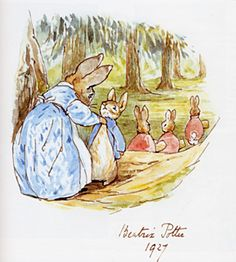 peter rabbit..I remember having these books as a child, although they had been around for a long time