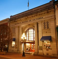 """Munroe's Books, Victoria, British Columbia, described by noted columnist and author Allan Fotheringham as """"the most magnificant bookstore in Canada, and possibly in North America."""" 1108 Government St., Victoria, BC"""