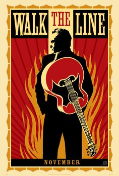 """Poster for """"Walk The Line"""" by James Mangold (2005)"""