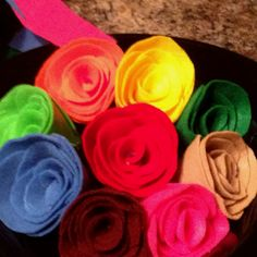 Felt roses I'll be teaching how to on these to