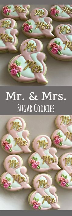 Wedding cookies, Mr and Mrs Cookies, Shower Cookies, Party Favors, Treat Bags, Shower Desserts, Engagement Gifts, Wedding Treats #affiliate