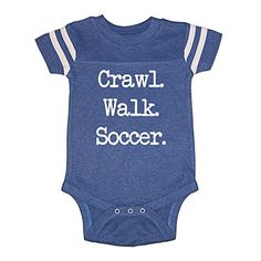 LOL Baby Crawl Walk Soccer Baby Football Jersey Bodysuit Vintage Royal 12 Months -- For more information, visit image link.Note:It is affiliate link to Amazon.