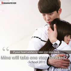 Watch the teen romance unfold on School 2015 on DramaFever! Kdrama, Who Are You School 2015, 2015 Quotes, One Step Forward, Korean Drama Quotes, Love Sick, Teen Romance, Joo Hyuk, Child Actresses