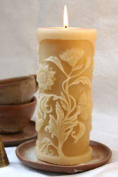 Svíčka * vyřezávané květy