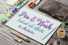 Pen and Wash: Instant Ink Effects for Illustrator by JRChild
