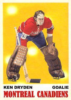 Picture Hockey Goalie, Hockey Teams, Ice Hockey, Hockey Girls, Hockey Mom, Montreal Canadiens, Ken Dryden, Goalie Mask, Pittsburgh Penguins Hockey