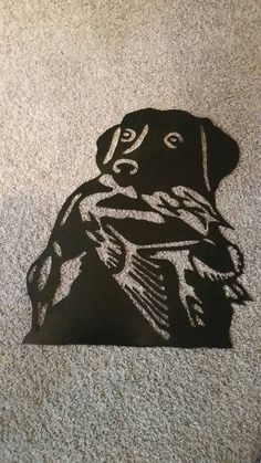 Hey, I found this really awesome Etsy listing at https://www.etsy.com/listing/218239033/metal-dog-wduck-wall-art