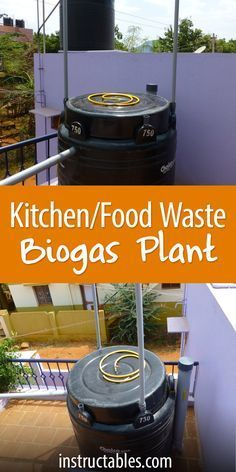 Turn kitchen waste (compost) into biogas in a 750-liter tank.