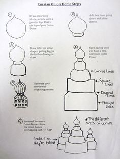 Steps to draw a Russian Onion Dome - Becker Intermediate Art