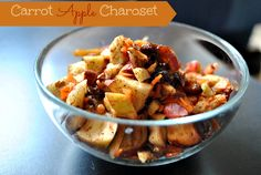 Carrot-Apple Charoset ..... Not just for Pesach!!