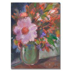 Trademark Fine Art Sheila Golden 'Starry Night Bouquet' Canvas Art