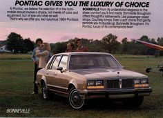 1984 Pontiac Bonnivile Brougham Four Door Sedan