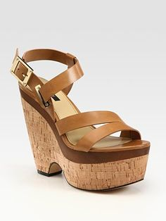 Newest Add to my Closet! Rachel Zoe: Sharon Leather Wedge Platform Sandals