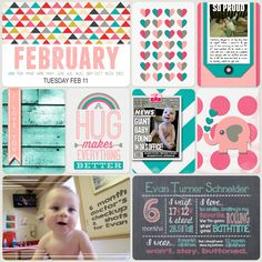 Project Life 2014 (Week 7, Day 2): 6 Month Checkup - Scrapbook.com