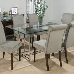 Zix Glass Top Dining Table And Chair Collection  Patio Furniture Alluring Glass Topped Dining Room Tables Inspiration Design