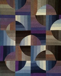 """Easy strip piecing and gentle curves that do not match up are the key to your success with this dynamic quilt. Its modern flair will be appealing for a masculine or feminine look.We have used the """"Black"""