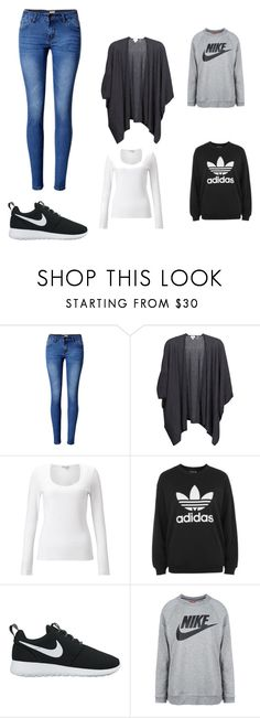 """""""Cold School day"""" by sophiad3 on Polyvore featuring WithChic, Kinross, Jigsaw, adidas and NIKE"""