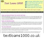 £100 loan no credit check @ http://www.textloans1000.co.uk Peoples with bad credits always suffer because of their poor rating for text loans.