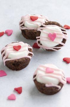 Valentine's Day Brownie Bites