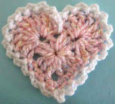 Best Free Crochet » Free Crochet Pattern – Large Lacy Heart #12