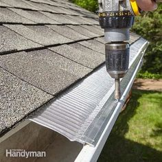 cleaning out gutters is a miserable, messy, stinky job. installing gutter guards could put that headache behind you, but how the heck are you supposed to know which type to buy? in this article, we'll examine the three most popular types of gutter guards: Diy Home Repair, Home Repairs, Diy Home Improvement, Home Hacks, Home Projects, Outdoor Projects, Home Remodeling, House Design, Rock Design