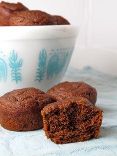 Chocolate Pumpkin Mini Muffins