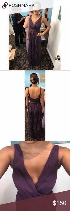 Vera Wang/David's Bridal PLUM Bridesmaid Dress 2 Chiffon , only worn once David's Bridal Dresses Maxi