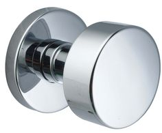 Emtek C505ROUUS26 Polished Chrome Round Knob Brass Modern Dummy Door Knobset with the CF Mechanism
