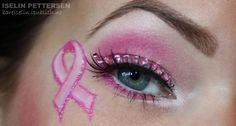 breast cancer awareness - Would be pretty make up for the Cheerleaders in Oct for a game. Breast Cancer Nails, Breast Cancer Crafts, Breast Cancer Survivor, Breast Cancer Awareness, Cheer Hair, Cheer Mom, Cheer Stuff, Cheer Makeup, Cheerleading Makeup
