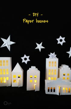 Ohoh Blog - diy and crafts: Paper house decor