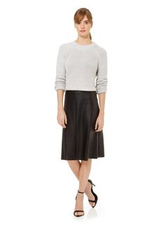 WILFRED LAMBALLE SKIRT - High-waisted and body-skimming in supple faux leather from Japan