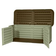 Suncast Multi Purpose 3 ft. x 7 ft. 4 in. Resin Split Lid Storage Shed-GS17500 at The Home Depot
