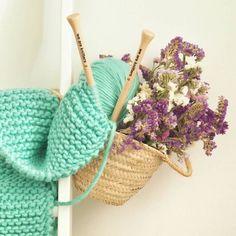 summer turquoise knitting