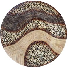 eUnique Decor Mojave Disc Wall Decor, Brown Tan (€235) ❤ liked on Polyvore featuring home, home decor, wall art, circle, brown tan, circular, round, brown wall art, brown home decor and vertical wall art