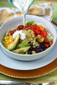 BBQ Chicken Quinoa Bowls {CPK Style}