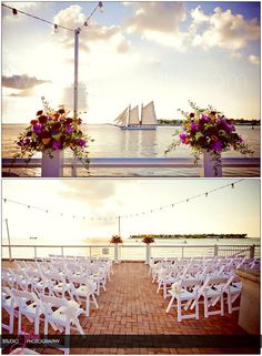 Florida Wedding - Gorgeous wedding ceremony setup at the Westin Resort and Marina in Key West, Florida. Photography by Studio Julie