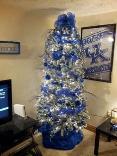 UK Christmas tree for the den  GO CATS!!!!